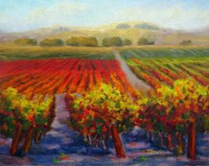 Art Show at Balletto Vineyards of Carolyn Jarvis Paintings